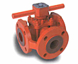 3-Way Fully Lined Plug Valve